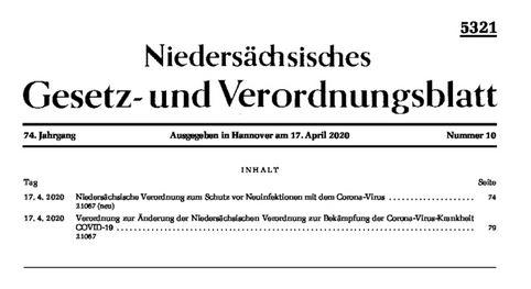 Niedersächsisches Gesetzblatt und Verordnungsblatt